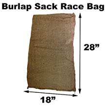 "Burlap Bags for Sack Races- Child Size - 18"" x 28"" (10 Pack)"