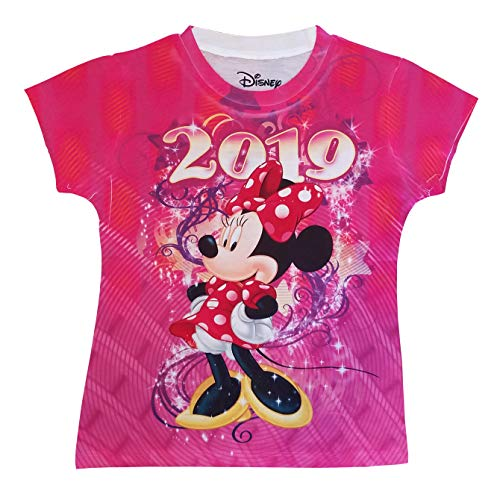 Disney Ice 2019 - Disney Youth Girls 2019 Dated Celebrate Minnie Sublimated Top X-Small Multicolor Tee