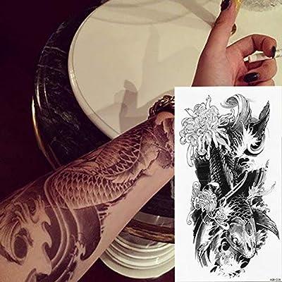 tzxdbh 3Pcs-Japanese Geisha Hot Black White Tattoo Estilo Negro ...