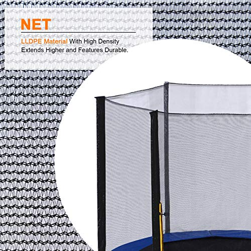 ExacMe Replacement Netting Outer Safety Net Without Poles for T-Series 10ft-16ft Trampoline-Net Only 6180 EN10T-EN16T (Fit Exacme T-Series 16ft) by Exacme (Image #1)