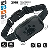 Dog Bark Collar (NEW UPGRADE 2018) | No Bark Training Collar | Humane & Super Effective Anti Bark Control Device (ALL Vibration, NO Shock) | Stop Barking Collar w/ 5 Color Face Plates | (M to L Dogs)