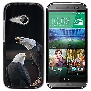 FlareStar Colour Printing Eagle Bald American National Symbol cáscara Funda Case Caso de plástico para HTC ONE MINI 2 / M8 MINI