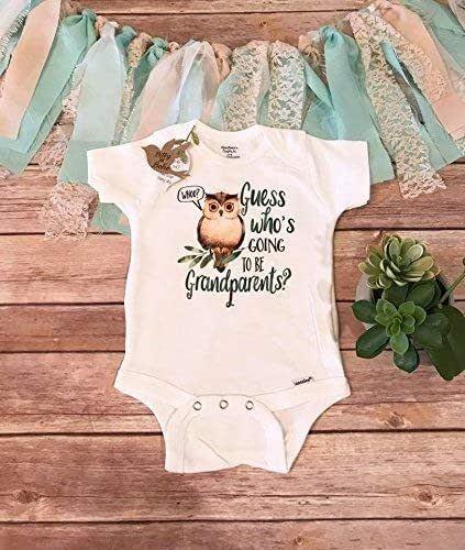 Halloween Pregnancy Announcement Idea Grandparents Announcement Onesie \u00ae Brand Bodysuit Grandma grandpa pregnancy reveal Halloween reveal