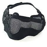 toonol táctico máscara de protección de malla de acero media cara máscara de estilo militar con correa elástica ajustable para Airsoft/Cs/juegos al aire última intervensión