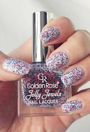 Golden Rose Jolly Jewels Nail Polish Glitter Lacquer Art 110 036 Floz
