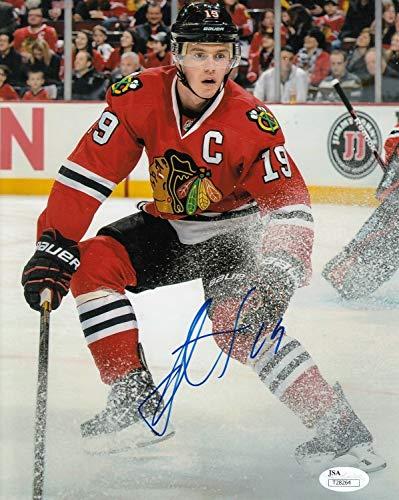 Jonathan Toews Blackhawks Autographed Signed Memorabilia Photograph 8x10 Hockey Nhl JSA Certified