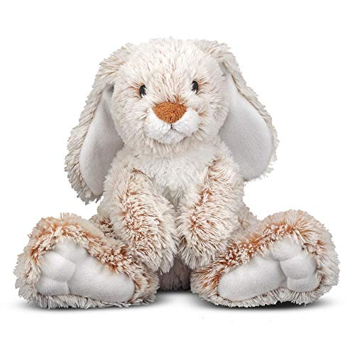 "Melissa & Doug Burrow Bunny Rabbit Stuffed Animal (Washable Surface, Soft Fabric , 9"" H x 10"" L x 6"" W, Great Gift for Girls and Boys - Best for 3, 4, 5 Year Olds and Up)"