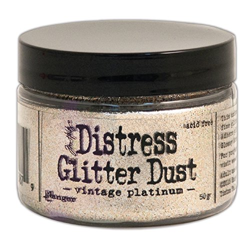 Ranger TDR49753 Vintage Platinum Tim Holtz Distress Glitter Dust 50G, Gold