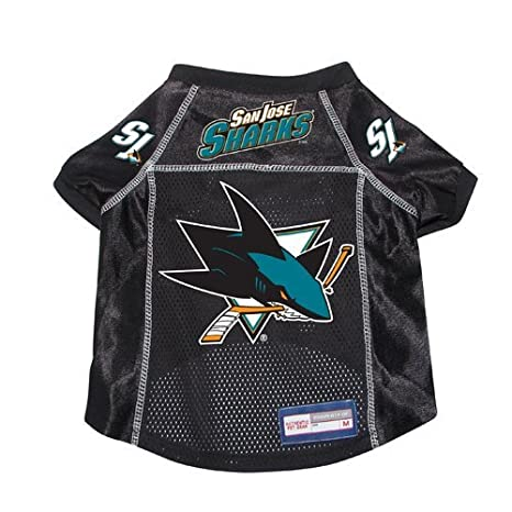 best service c5c3f ed6e6 Amazon.com : San Jose Sharks Premium Pet Dog Hockey Jersey w ...