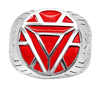 Marvels Iron Man ArmorWomens Ring in Sterling Silver 5 Blue