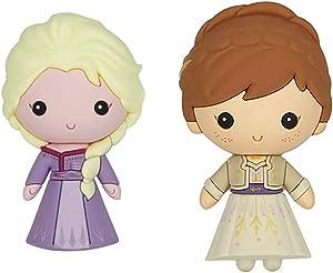 Frozen 2 Elsa and Princess Anna 3D Novelty Kitchen Refrigerator Magnet (2 Pack)