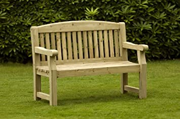 Athol Garden Bench 5ft Pressure Treated Amazoncouk Kitchen Home