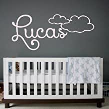 Wall Decals Personalized Name Decal Vinyl Sticker Clouds Boy Baby Children Nursery Bedroom Decor Art Murals MN84