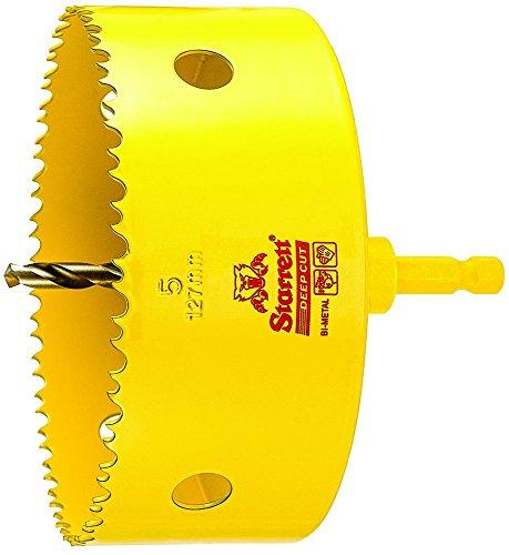 Starrett ADCH0500 Professional HSS Bi-Metal Dual Pitched Hole Saw with Arbor, 5'', 127 mm Diameter by Starrett