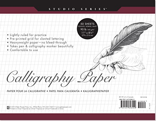 Slanted Line - Studio Series Calligraphy Paper Pad: 50 Sheets