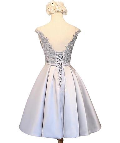 LanierWedding Women s Floral Lace Prom Dresses Short 2017 Cap Sleeve Retro  Vintage Swing Dress Cocktail Dresses at Amazon Women s Clothing store  aa0e162ab