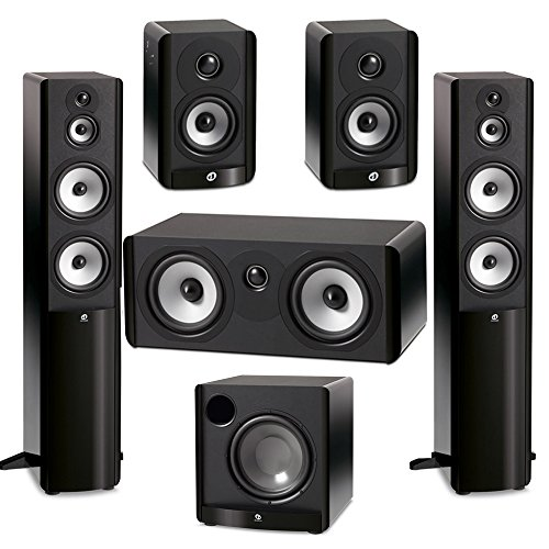 (Boston Acoustics 5.1 System with 2 A360 Floorstanding Speakers, 1 A225C Center Channel Speaker, 2 A23 Bookshelf Speaker, 1 Boston Acoustics ASW650 10 inch Subwoofer )