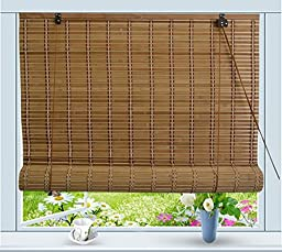 Bamboo Roll Up Window Blind Sun Shade W32\