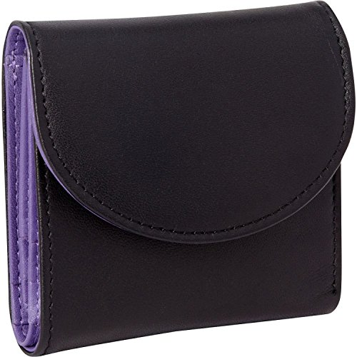 Royce Leather Women's RFID Blocking Compact Trifold Wallet in Leather, Purple ()