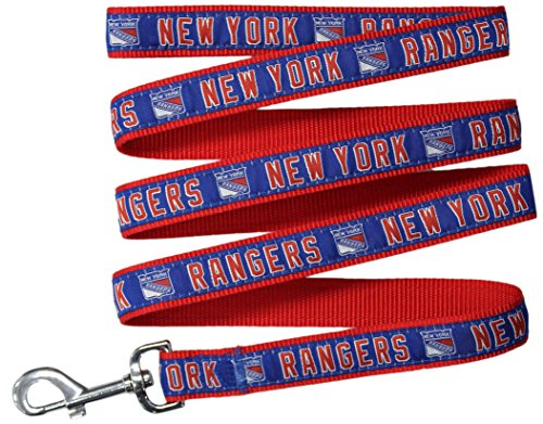 (Pets First NHL New York Rangers Leash for Dogs & Cats, Large. - Walk Cute & Stylish! The Ultimate Hockey Fan Leash!)