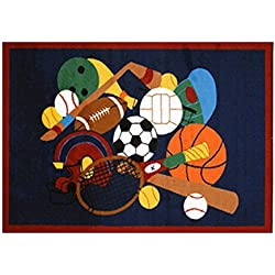 Fun Time American Sports Rug Size: 1'7'' x 2'5''