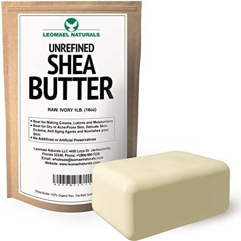 Raw Unrefined African Organic Pure Grade A, lvory Natural Shea Butter,1lb-- Uses In DIY Recipes For Whipped Body Butter,Hair,Face,Soap,Lotion,Lip Balm,Conditioner,Acne,Moisturizer,Stretch Mark & More!
