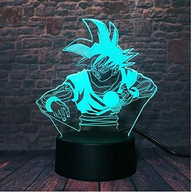 Klsoo Luz de noche Anime Dragon Ball Z God Goku Super Saiyan ...