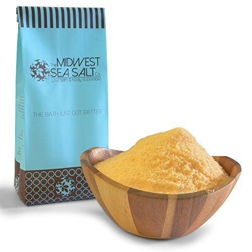 Lemongrass Scented Bath Salt - Grapefruit & Lemongrass Mediterranean Sea Bath Salt Soak - 5lb (Bulk) - Fine Grain