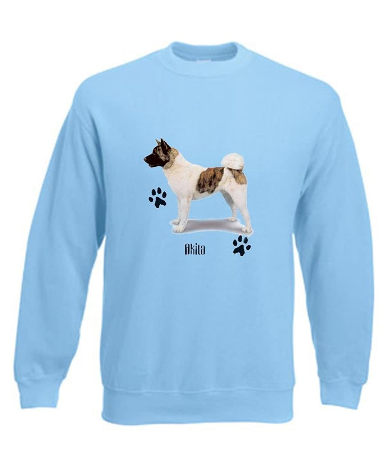 Simply Tees Akita Dog With Paw Prints Adult's Sweatshirt