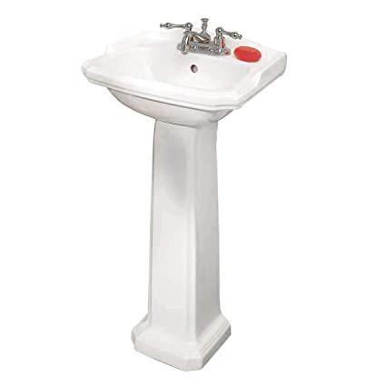 Pedestal Bathroom Sink | Small Pedestal Bathroom Sink White Vitreous Grade A Quality China Scratch Stain Resistant Open Back Easy Clean And Install Renovators Supply