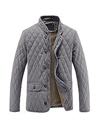 MADHERO Men's Winter Cotton Coat Thick Outerwear Fleece Lining