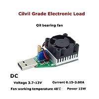 Topker 15 Watt USB Last Widerstand DC 3,7-13 V Einstellbare Konstantstrom Elektronische Lastentlader Batterie Kapazität Test Meter mit Lüfter