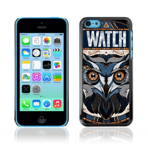 Designer Depo Etui de protection rigide pour Apple iPhone 5C / Awesome OWL Pattern Tattoo