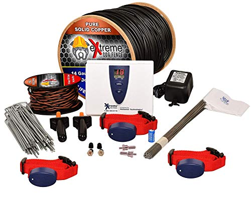 Underground Electric Dog Fence Ultimate - Extreme Pro Dog Fence System for Easy Setup and Maximum Longevity and Continued Reliable Pet Safety - 3 Dog | 1500 Feet Pro Grade Dog Fence Wire