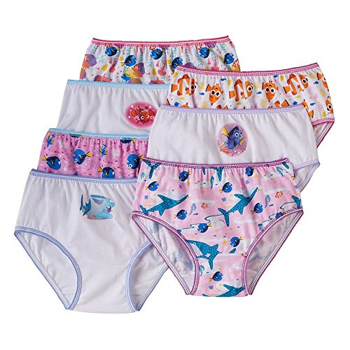 Disney Finding Nemo Dory Girls Underwear Panties 7 Pack S...