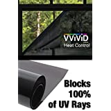 """Heat Control 100% Anti UV Vinyl Wrap Dark Tint Roll for Home Residential Office Climate Control - 1.49ft x 60"""""""