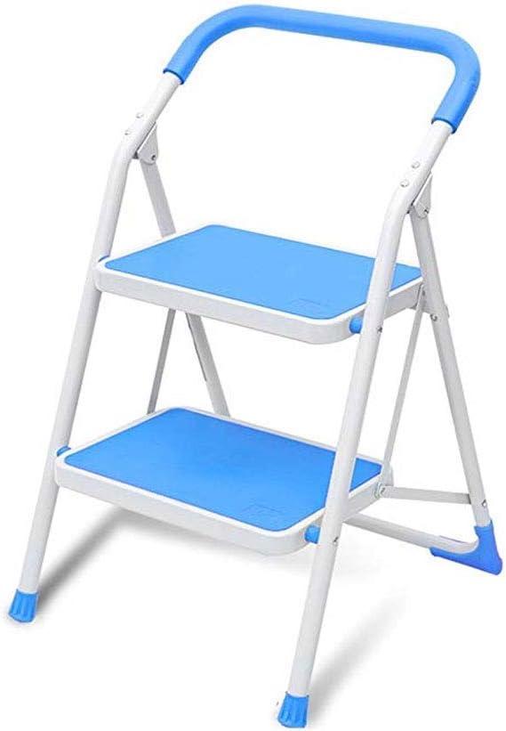 BBG Taburete, Escalera Plegable para Decoración Del Hogar Escalera de Espiga de Doble Uso Taburete Engrosamiento Escalera Pequeña Plegable de Dos Pasos para Interiores Escalera Multifunción,Azul: Amazon.es: Bricolaje y herramientas