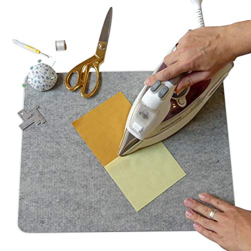 """Madam Sew Wool Pressing Mat for Quilting (17"""" x 13.5"""") - 100% Natural Wool Ironing Pad Promotes Crisp, Flat Seams on Quilt Blocks, Sewing Projects and Embroidery without Stretching or Puckering Fabric"""