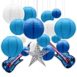 KAXIXI Round Chinese Paper Lanterns Decorative