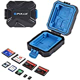 Memory Cards Case, PULUZ Waterproof Micro SD CF TF Card Holder Stocker Storage Box (9 Slots)
