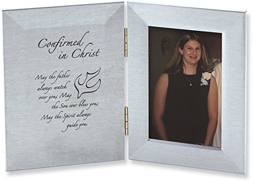 Cathedral Art WL244 Confirmed In Christ Hinged Metal Picture Frame, Holds 2-1/2 by 4-Inch Photo by Cathedral Art