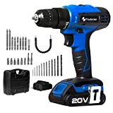 Prostormer 20V Max 3/8'' Cordless Drill Driver Set, 2-Speed Max Torque 310 In-lbs 15+1 Position with LED, 1 Hour Fast Charger, 30pcs Accessories and Carrying Case Included