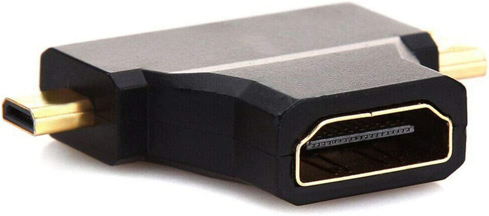 Micro HDMI Male Adapter Connector Adopter yan 3 in 1 HDMI Female to Mini HDMI Male