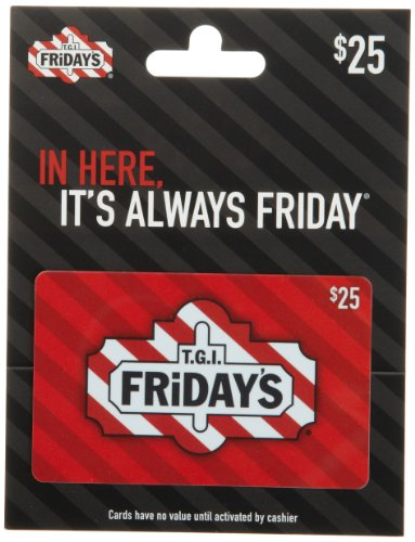 Amazon.com: T.G.I Friday's Holiday Gift Card $25: Gift Cards