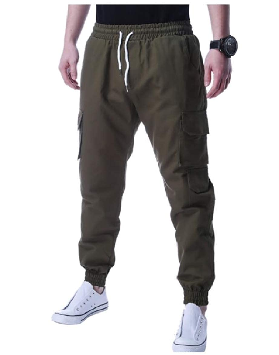 Abetteric Mens Outdoor Athletic Running Sports Straps Trousers Pants
