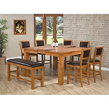 Brilliant Amazon Com Chapman 8 Piece Counter Height Dining Set With Unemploymentrelief Wooden Chair Designs For Living Room Unemploymentrelieforg