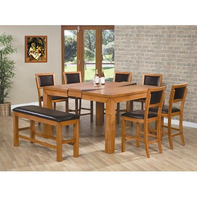 Chapman 8 Piece Counter Height Dining Set With Butterfly Leaf In Caramel