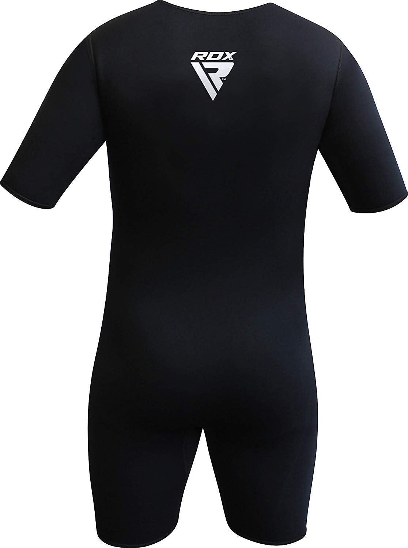 RDX Sauna Suit MMA Neoprene Sweat Shirt Rash Weight Loss Slimming Fitness Gym Exercise Training