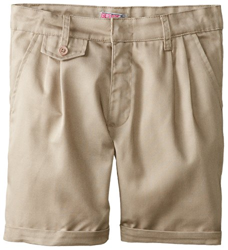 Girls Belted Twill Pants (Genuine Little Girls' Twill Short (More Styles Available), Khaki-FAAE, 6)
