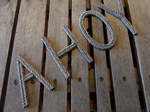 (Rope Letters Personalize MADE TO ORDER Alphabet Nautical Decor Text Letters Nursery Decor )